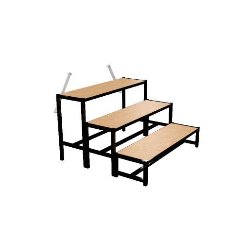 escalier 3 marches h 80 cm pour la sc ne avec. Black Bedroom Furniture Sets. Home Design Ideas